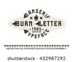 sanserif font with flame... | Shutterstock .eps vector #432987292