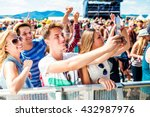 teenagers at summer music... | Shutterstock . vector #432987976
