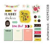 planner stickers. signs ... | Shutterstock .eps vector #432992338