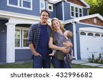 portrait of family standing...   Shutterstock . vector #432996682