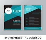 black page brochure and flyer ... | Shutterstock .eps vector #433005502
