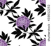 vector seamless pattern with... | Shutterstock .eps vector #433012252