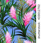 tropical vector pattern with... | Shutterstock .eps vector #433012702