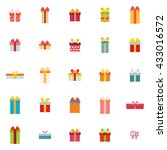 cute present objects | Shutterstock .eps vector #433016572