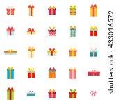cute present objects | Shutterstock .eps vector #433016572