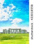 Stonehenge With Blue Sky...