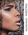 beautiful american african girl ... | Shutterstock . vector #433027816