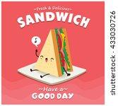 Vintage Sandwich Poster Design...