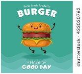 vintage burger poster design... | Shutterstock .eps vector #433030762