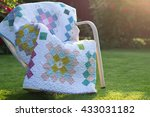 Quilt Blanket Outdoors In The...