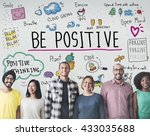 positive thinking simple life... | Shutterstock . vector #433035688