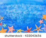 beautiful hand painted... | Shutterstock . vector #433043656