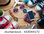 travel accessories costumes.... | Shutterstock . vector #433044172
