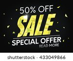 sale  special offer web banner... | Shutterstock .eps vector #433049866