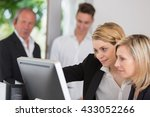 training course in business... | Shutterstock . vector #433052266