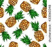 pineapple tropical vector... | Shutterstock .eps vector #433060348