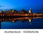 albany ny skyline wintertime ... | Shutterstock . vector #433064146