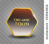 organic food gold badge or...   Shutterstock .eps vector #433065826