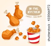 fried chicken isolated set  ... | Shutterstock .eps vector #433066972