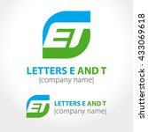abstract icon letters e and t...   Shutterstock .eps vector #433069618