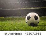 soccer on grass  and stadium. | Shutterstock . vector #433071958