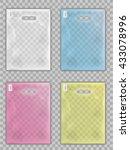 plastic shopping bag package... | Shutterstock .eps vector #433078996