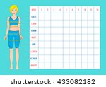 body measurement tracking chart ... | Shutterstock .eps vector #433082182