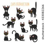 set of vector images of cute... | Shutterstock .eps vector #433082266