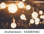 vintage light bulb decorative...   Shutterstock . vector #433085482
