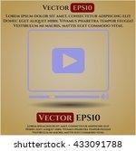 video player icon vector symbol ... | Shutterstock .eps vector #433091788