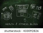 health   fitness blogs  desk... | Shutterstock . vector #433092826