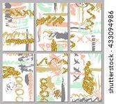 set of artistic invitations... | Shutterstock .eps vector #433094986