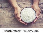 male's hand holding a bowl with ...   Shutterstock . vector #433099306