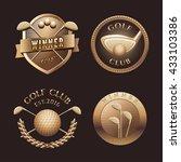 set of golf vector logo  emblem ... | Shutterstock .eps vector #433103386