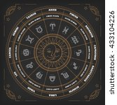 zodiac circle with horoscope... | Shutterstock .eps vector #433104226
