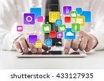 apps. | Shutterstock . vector #433127935