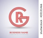 letter gr or rg linked logo...   Shutterstock .eps vector #433131466