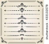 vintage set of decorative... | Shutterstock .eps vector #433132078