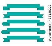 banner ribbon vector set   Shutterstock .eps vector #433138222