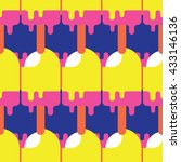 seamless popsicle pattern ... | Shutterstock .eps vector #433146136