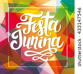 festa junina party poster with... | Shutterstock .eps vector #433147546
