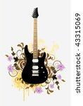 electric guitar with design... | Shutterstock .eps vector #43315069