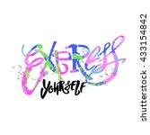 express yourself concept hand... | Shutterstock .eps vector #433154842
