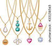 Set Of Golden Chains With...