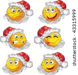 set of butch new year smiles   Shutterstock .eps vector #43315999