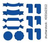 blue banner ribbon vector set... | Shutterstock .eps vector #433162312