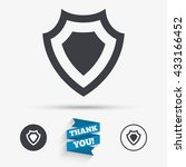 shield sign icon. protection... | Shutterstock .eps vector #433166452