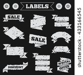 stickers  tags and banners with ... | Shutterstock .eps vector #433166545