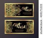 rich gold gift certificates in... | Shutterstock .eps vector #433171222
