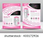 blue business brochure flyer...   Shutterstock .eps vector #433172926